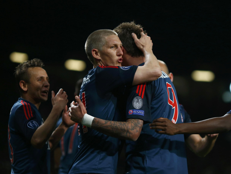 O Manchester United recebeu o Bayern de Munique, a partida terminou em 1 a 1.