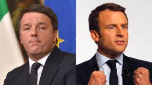 Emmanuel Macron et Matteo Renzi ont des politiques convergentes dans trois domaines principaux : la fluidification du marché du travail, la réduction des dépenses publiques, la simplification administrative;