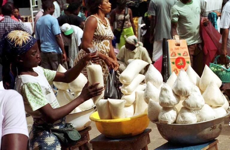 Le plus grand marché du Gabon : le marché Mont-Bouet.