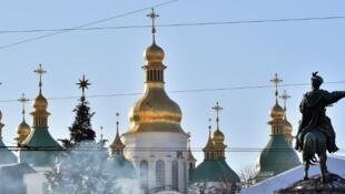 La cathédrale Sainte-Sophie dans la capitale ukrainienne, Kiev.