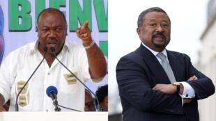 Rais wa Gabon, Ali Bongo Ondimba (Kushoto) na mpinzani wake Jean Ping (Kulia)