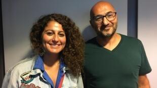 Zeina Abirached et Karim Haïdar.