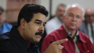 Le président Maduro, à Caracas, le 21 avril 2014, lors d'une déclaration au cours de laquelle il annonce une augmentation du salaire minimum.