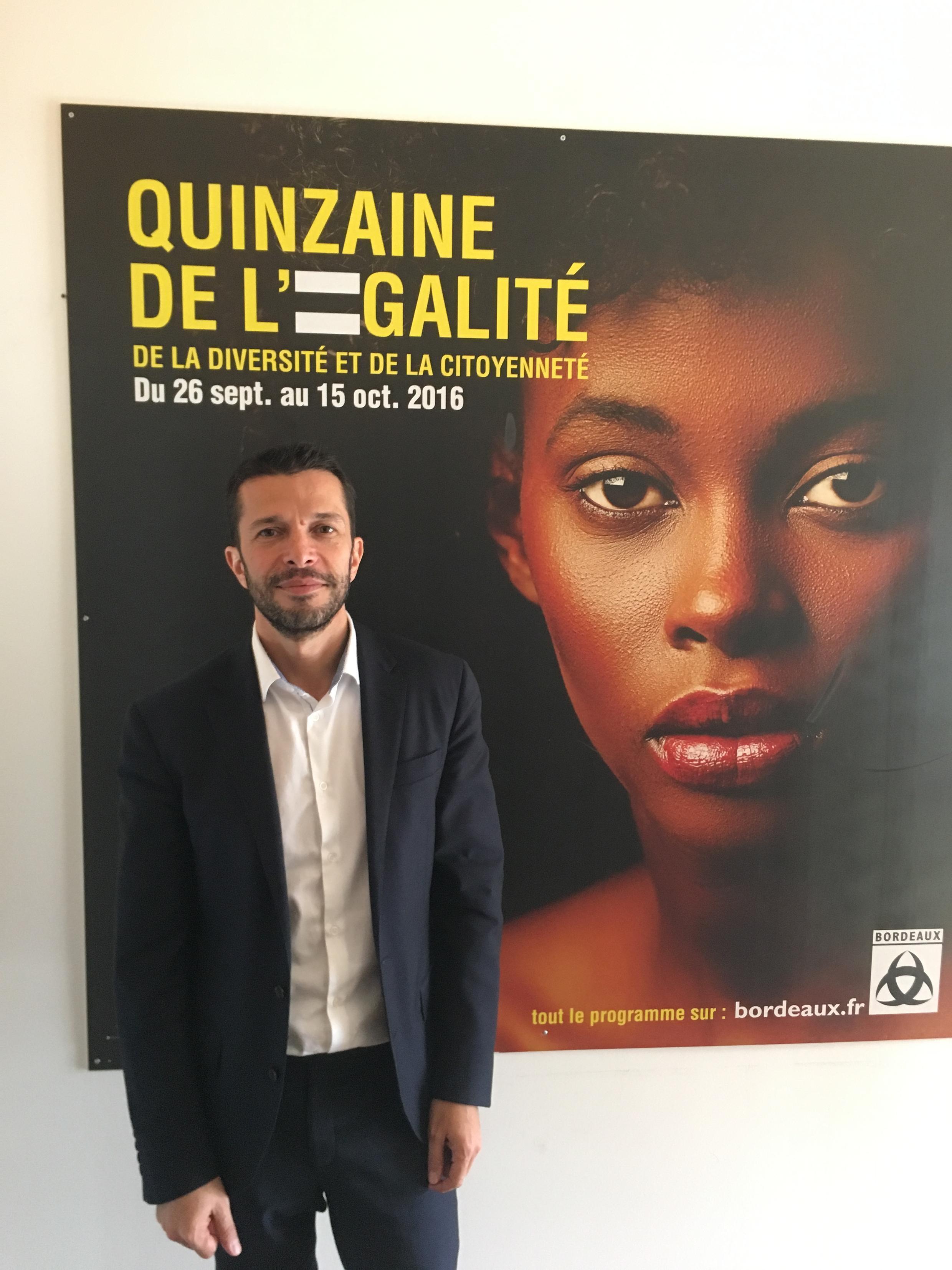 Marik Fetouh, Bordeaux deputy mayor in charge of diversity, 20 February 2019
