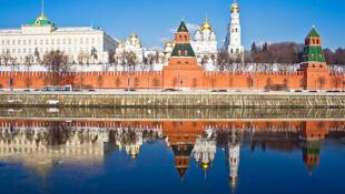 Une vue du Kremlin, à Moscou.