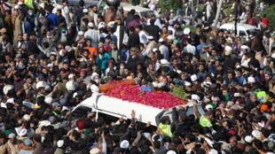 Funérailles Rizvi Khadim Pakistan Lahore