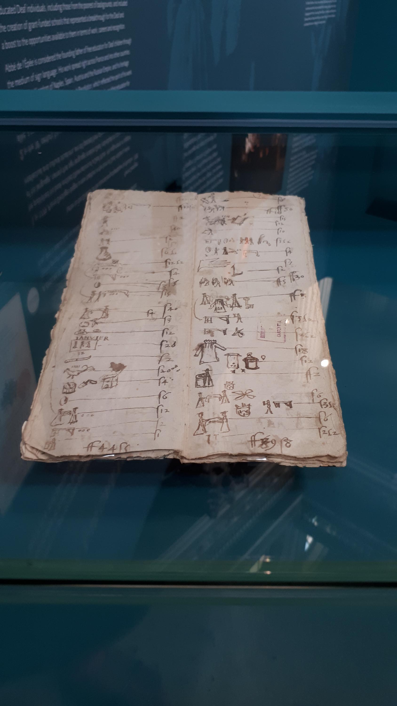 Sổ ghi chép thu chi của ông Antoine de Lincel, một lãnh chúa khiếm thính thế kỷ XVI.