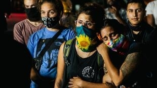 Des manifestants en soutien aux deux personnes tuées le 25 août par l'adolescent de 17 ans Kyle Rittenhouse.