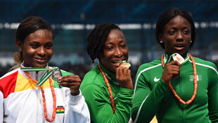 L'Ivoirienne Marie-Josée Ta Lou (au centre).