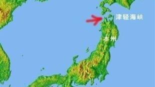 图为津轻海峡地理位置