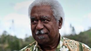 Roch Wamytan, en marge d'une réunion pour le «oui» à l'indépendance de la Nouvelle-Calédonie. Nouméa, le 30 octobre 2018.