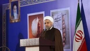 حسن روحانی در بیست و یکمین نمایشگاه مطبوعات در تهران