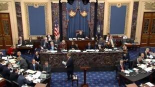 Le chef de la commission judiciaire de la Chambre Jerry Nadler, 72 ans, ennemi de longue date de Donald Trump, l'a accusé d'avoir eu une conduite «mauvaise, illégale et dangereuse», au Sénat, à Washington, le 23 janvier 2020.