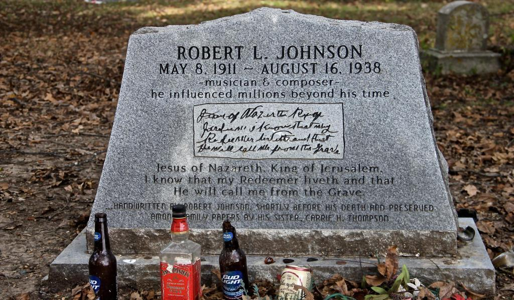 La tombe de Robert Johnson à Greenwood (Mississippi).