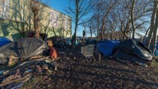 Lều trại của người nhập cư lậu ở vùng Pas-de-Calais, Pháp.
