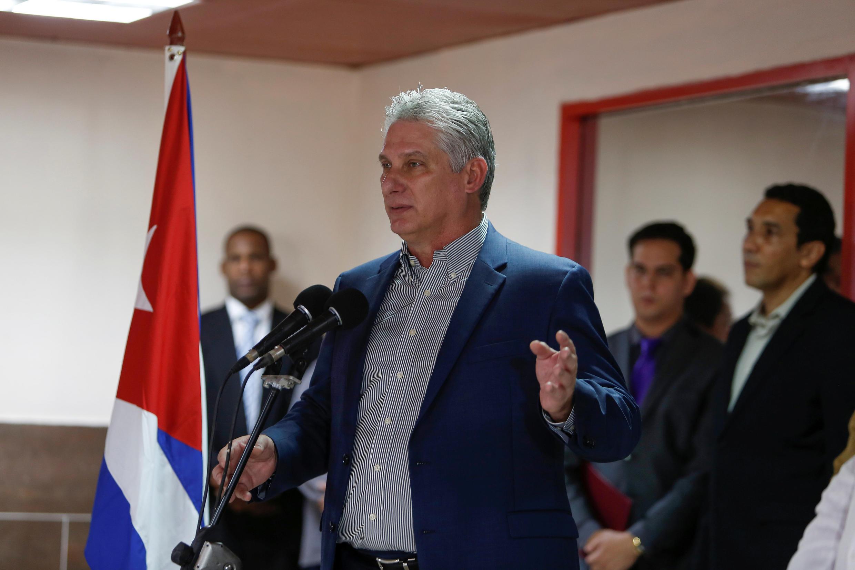 Le président cubain Miguel Diaz-Canel.