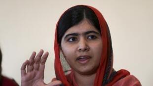 Msichana wa kipakistan, Malala Yousafzai, ambaye ni mwanaharakati wa haki za elimu kwa wasichana.