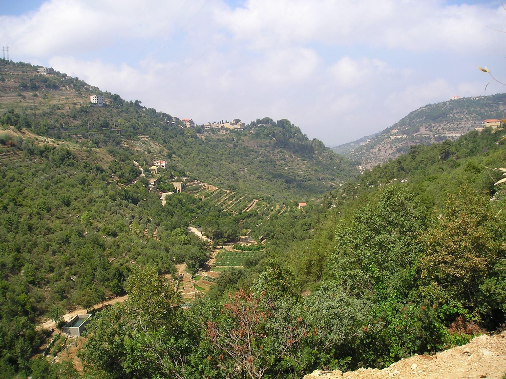 Chouf mountains in Lebanon