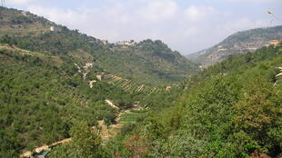 Chouf mountains in Lebanon