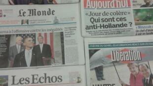 Diários franceses do dia 29/1/2014