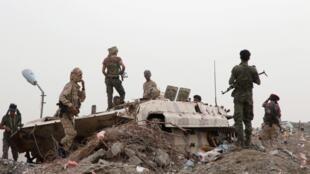 Les séparatistes yéménites après un accrochage à Aden avec les forces loyalistes. Le 10 août 2019.
