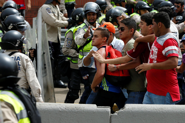 Manifestation à Caracas, Venezuela, le 18 mai 2016.