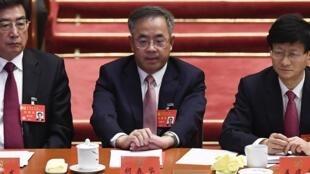 胡春華(中)中共19大開幕式2017年10月18日北京