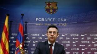Shugaban Barcelona Josep Maria Bartomeu.
