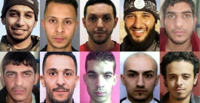 Among the 10 jihadists who wreaked havoc on the French capital on November 13, 2015, the only survivor is Salah Abdeslam (top row, second left), who is refusing to talk to investigators.