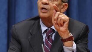 Amr Moussa, secretario general de la Liga Arabe.