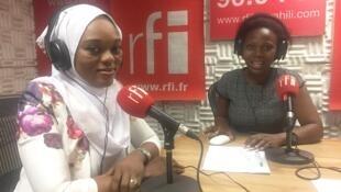 Bi Jema Baruani na Martha Saranga ndani ya studio za rfikiswahili Dar es salaam