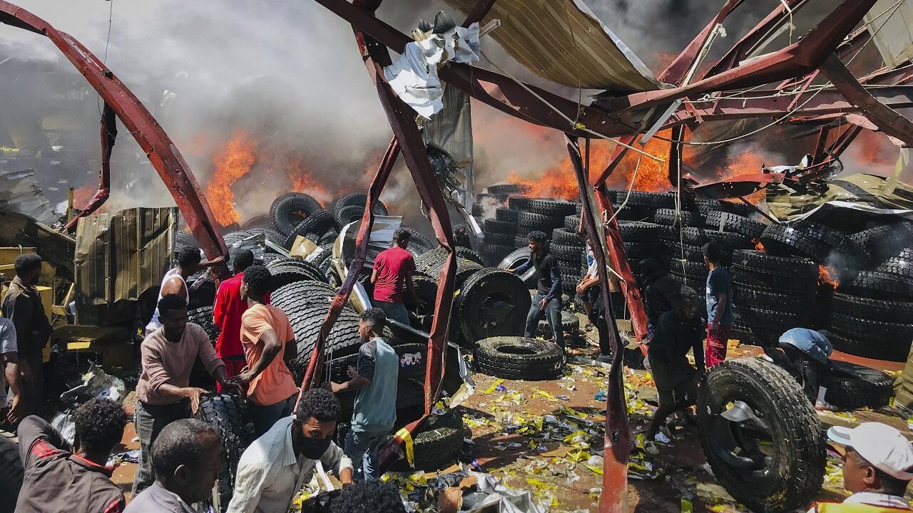 PHOTO Mekele Ethiopie bombardement - 20 octobre 2021