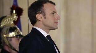 Emmanuel Macron le 26 janvier 2018.