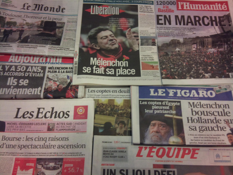 Diários franceses 19/03/2012