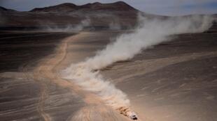 Imagen del rallye Dakar en tierras sudamericanas