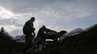 Sur la ligne de front du Donbass, dans la région de Donetsk, en juillet 2015.