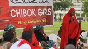 Manifestação de participantes do movimento Bring Back Our Girls na Nigéria