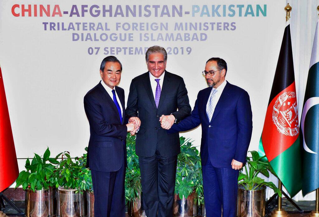 """""""Đối thoại ba bên"""" giữa ngoại trưởng Trung Quốc, Pakistan và Afghanistan tại Islamabad, Pakistan, ngày 07/09/2019."""