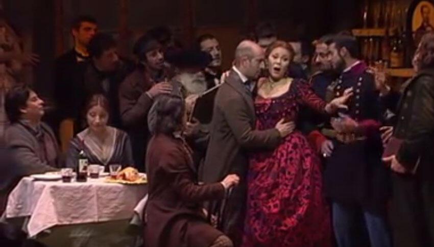Une représentation de « la Bohème » de Giacomo Puccini. (Capture d'écran)