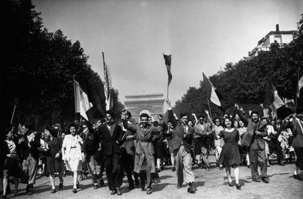 8 de mayo de 1945 en los Campos Elíseos