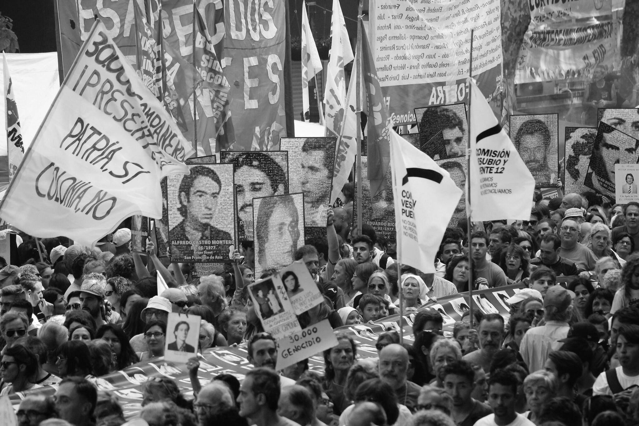 Marcha en Buenos Aires por la Memoria Verdad y Justicia a 41 años del golpe de Estado de 1976 en Argentina, el 24 de marzo de 2017.