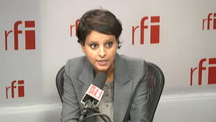 Najat Vallaud-Belkacem, Ministre des Droits des femmes, porte-parole du gouvernement, présente au Sommet mondial des Femmes.