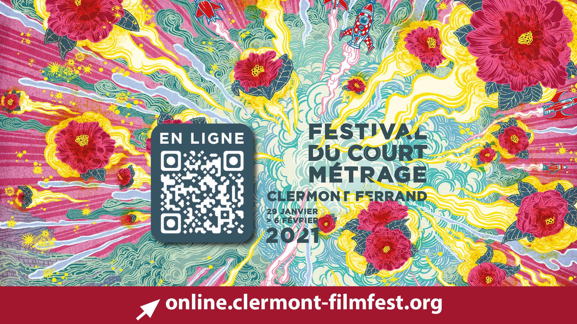 L'affiche de l'édition 2021 du Festival international du court métrage à Clermont-Ferrand.   © Yuko Shimizu