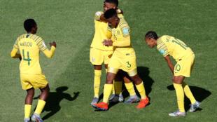 Les Sud-Africaines ont ouvert le score contre l'Espagne grâce à Thembi Kgatlana, le 8 juin 2019.