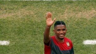 L'attaquant camerounais Samuel Eto'o.