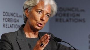 Christine Lagarde, directrice du FMI, le 26 juillet 2011 à New York.