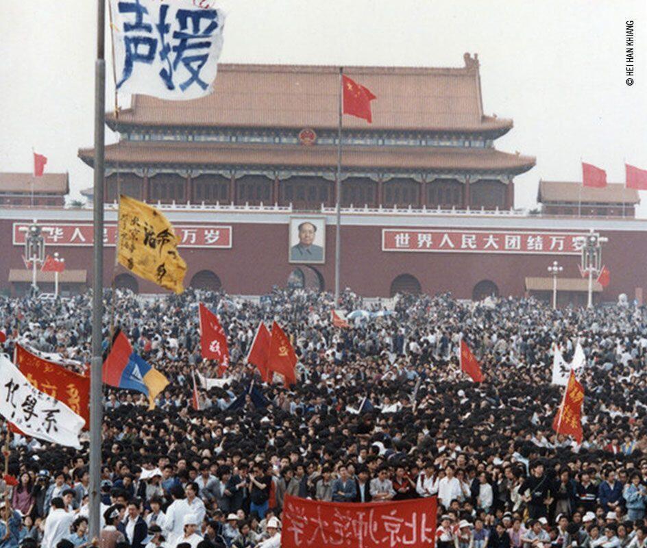 89年6.4屠殺前的北京天安門廣場