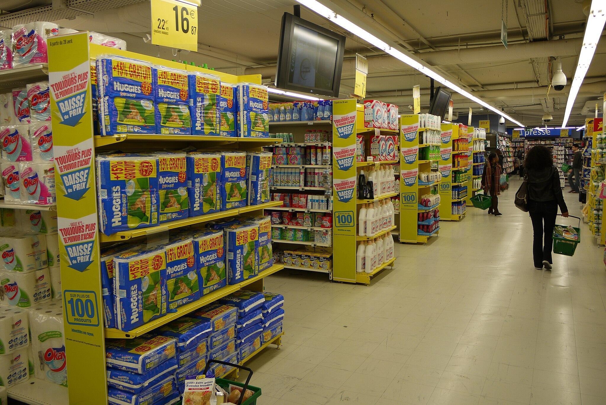 corredor supermercado