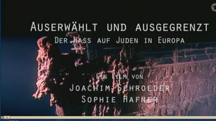 """Screen shot of the documentary """"Chosen and Excluded - the Hate for Jews in Europe,"""" by Joachim Schroeder and Stephanie Hafner"""