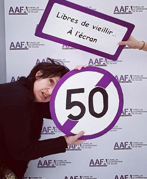 """A atriz francesa Marina Tomé criou a comissão """"Túnel dos 50"""" na AAFA (Atrizes e Atores Associados da França)."""